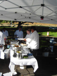 Chefs at work at KCC Farmers' Market